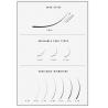 Cils courbe C : Epaisseur:0.07, Longueur(s):13-14-15-16mm